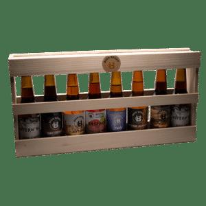 Coffret 8 bières (33cl) dans son coffret bois